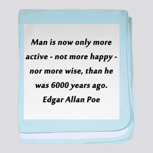 Man Is More Active Poe baby blanket