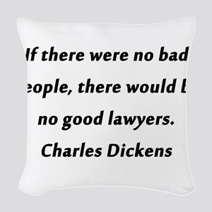 Lawyers Dickens Woven Throw Pillow