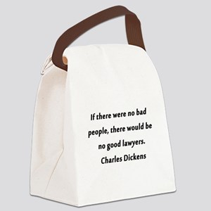 Lawyers Dickens Canvas Lunch Bag
