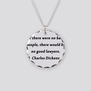 Lawyers Dickens Necklace Circle Charm