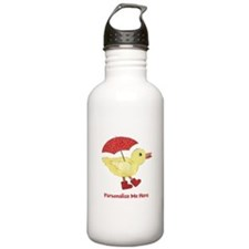 Personalized Duck in Boots Stainless Water Bottle