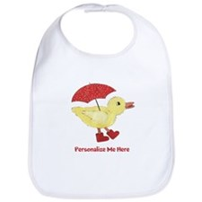 Personalized Duck in Boots Bib