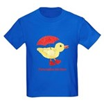 Personalized Duck in Boots Kids Dark T-Shirt