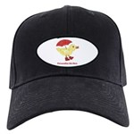 Personalized Duck in Boots Black Cap