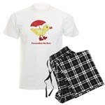 Personalized Duck in Boots Men's Light Pajamas