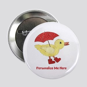 """Personalized Duck in Boots 2.25"""" Button"""