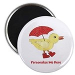 Personalized Duck in Boots Magnet