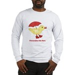 Personalized Duck in Boots Long Sleeve T-Shirt