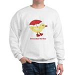 Personalized Duck in Boots Sweatshirt