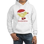 Personalized Duck in Boots Hooded Sweatshirt