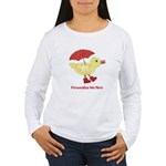 Personalized Duck in Boots Women's Long Sleeve T-S