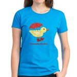 Personalized Duck in Boots Women's Dark T-Shirt