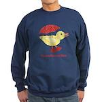 Personalized Duck in Boots Sweatshirt (dark)