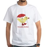 Personalized Duck in Boots White T-Shirt