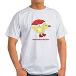 Personalized Duck in Boots Light T-Shirt