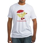 Personalized Duck in Boots Fitted T-Shirt