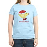Personalized Duck in Boots Women's Light T-Shirt