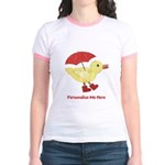 Personalized Duck in Boots Jr. Ringer T-Shirt