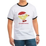 Personalized Duck in Boots Ringer T