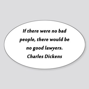 Lawyers Dickens Sticker (Oval)