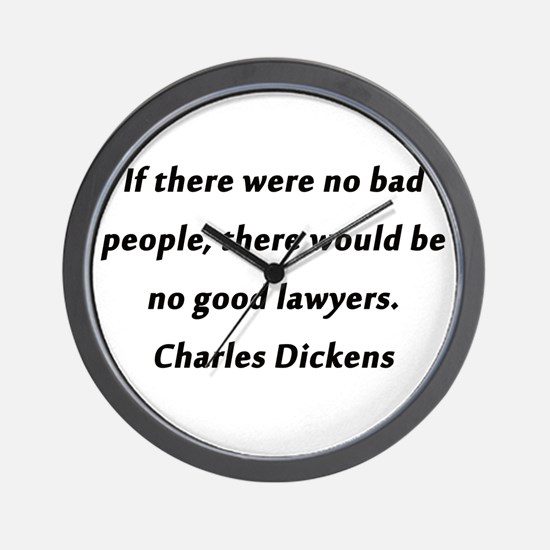Lawyers Dickens Wall Clock