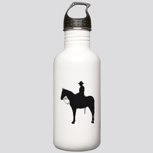 Canadian Mountie Silhouette Stainless Water Bottle