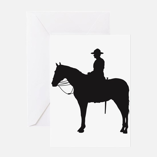 Canadian Mountie Silhouette Greeting Card