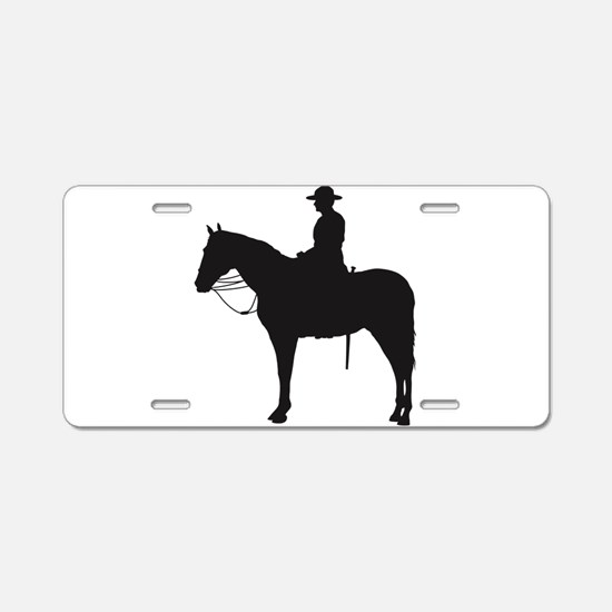 Canadian Mountie Silhouette Aluminum License Plate