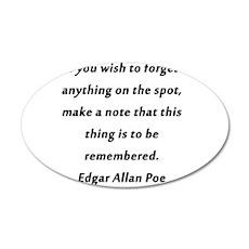 Forgetfullness Poe Wall Decal