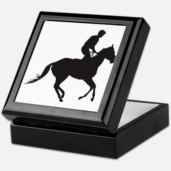 Jockey Silhouette Keepsake Box