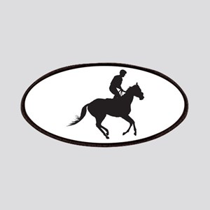 Jockey Silhouette Patches
