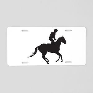 Jockey Silhouette Aluminum License Plate
