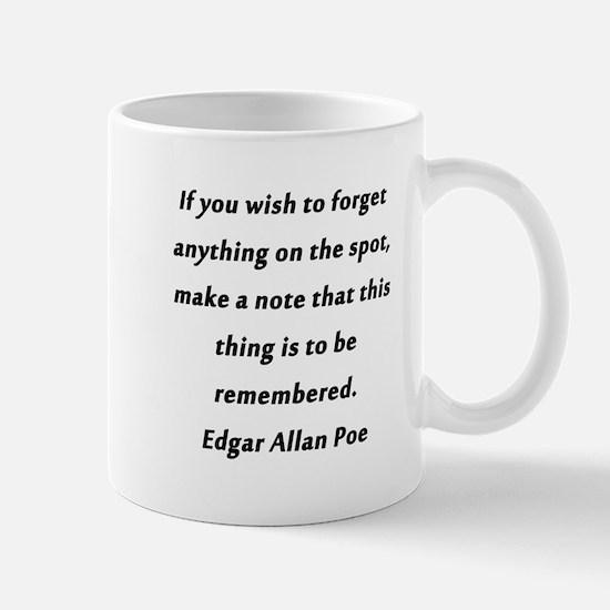 Forgetfullness Poe Mug