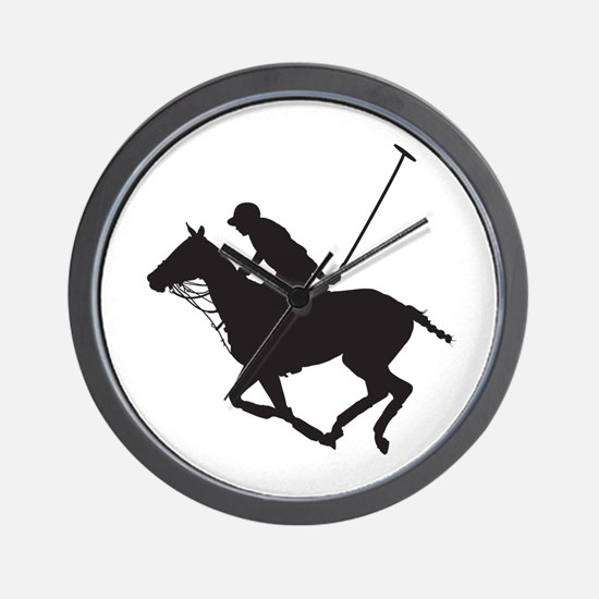 Polo Pony Silhouette Wall Clock