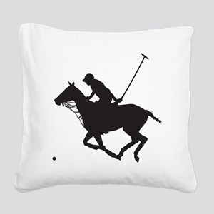Polo Pony Silhouette Square Canvas Pillow