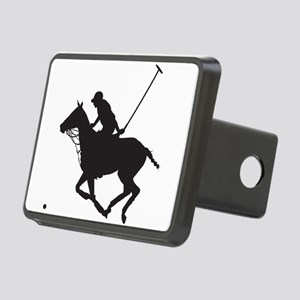 Polo Pony Silhouette Rectangular Hitch Cover