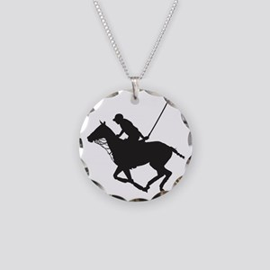 Polo Pony Silhouette Necklace Circle Charm