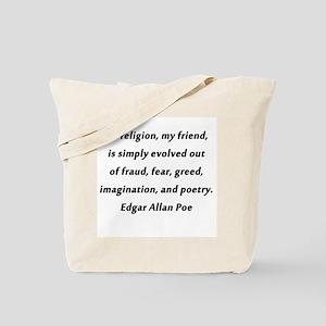 All Religion Poe Tote Bag
