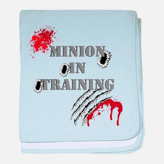Minion In Training 2 baby blanket