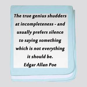 Poe On True Genius baby blanket