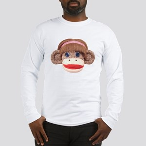 Sock Monkey Cherry Long Sleeve T-Shirt
