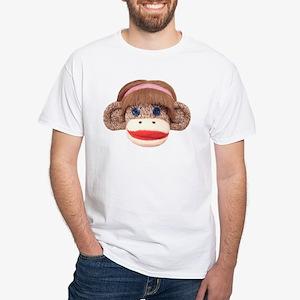 Sock Monkey Cherry White T-Shirt