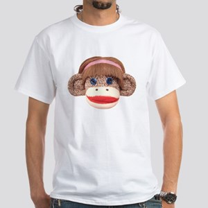 Sock Monkey Cherry White T-Shirt