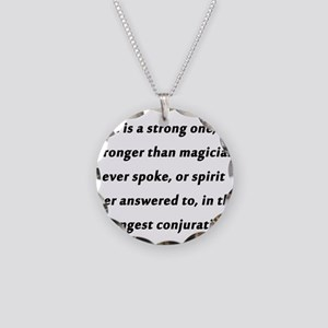 Dickens on Home Necklace Circle Charm