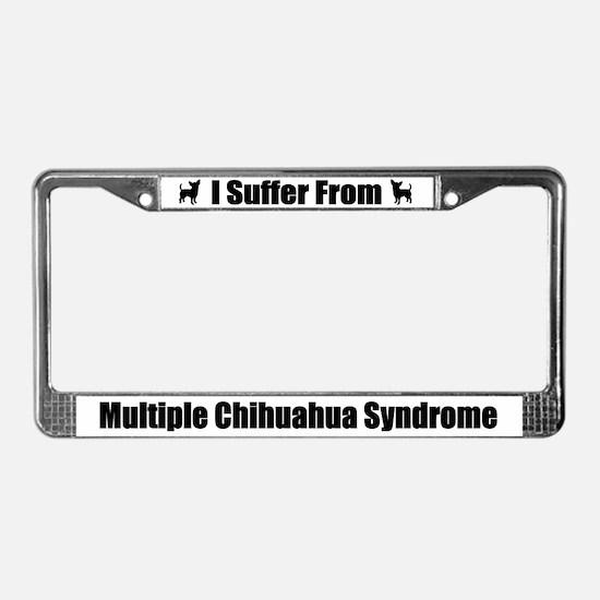 Chihuahua License Plate Frame