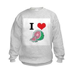 I Heart (Love) Watermelon Sweatshirt