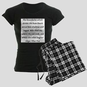 Poe On Life and Death Women's Dark Pajamas