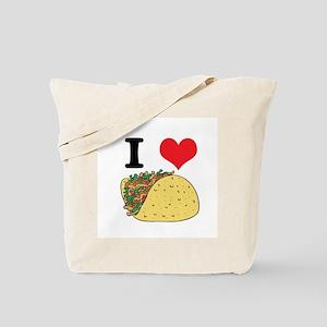 I Heart (Love) Tacos Tote Bag