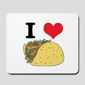 I Heart (Love) Tacos Mousepad