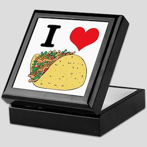 I Heart (Love) Tacos Keepsake Box